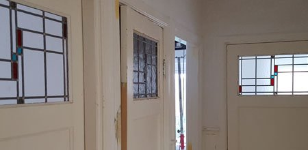 Glas-in-lood deuren en ensuite deuren