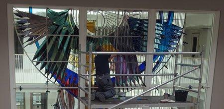 Monumentale restauratie van glas-in-lood