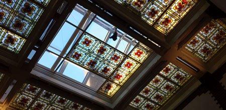 Glas-in-lood koepels en plafonds