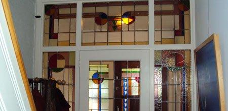 Glas-in-lood trap- en tochtportalen