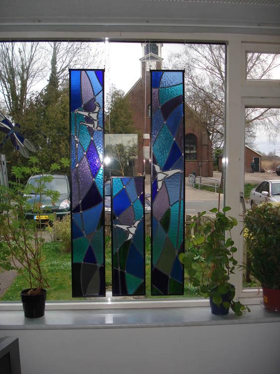 Glas In Lood Raamhangers Atelier Domstad